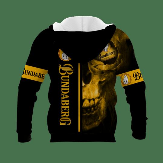 Skull bundaberg brewed drinks 3d all over print hoodie - LIMITED EDITION