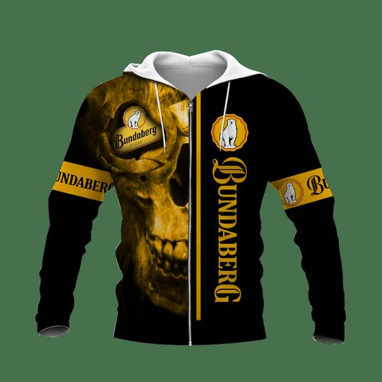 Skull bundaberg brewed drinks 3d all over print hoodie4