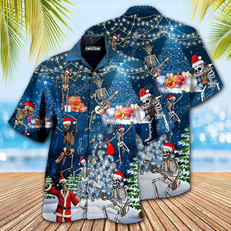 Skull dabbing and merry christmas full print hawaiian shirt 1 - Copy (2)