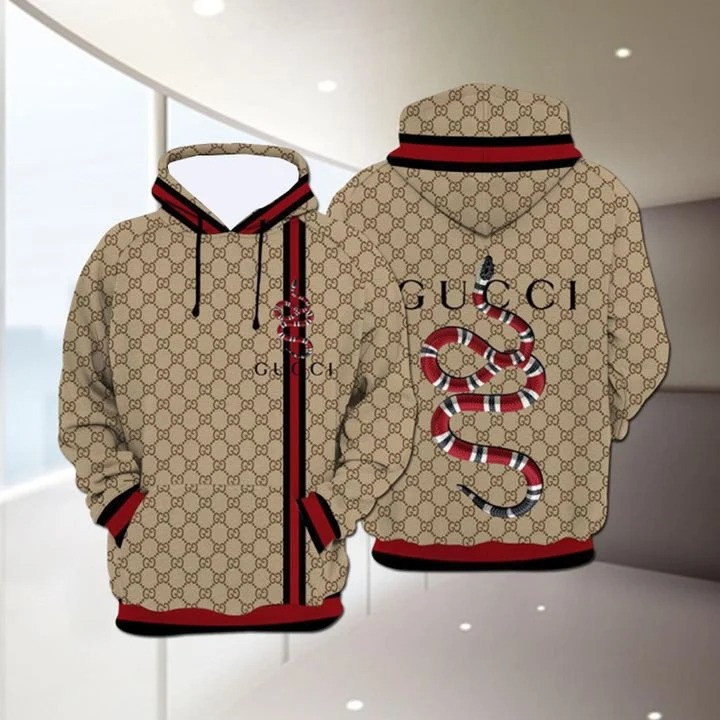 Snake Gucci 3D  all over print Hoodie - BBS