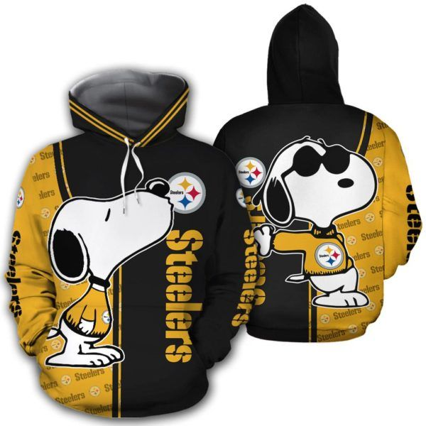 Snoopy And Pittsburgh Steelers 3d hoodie and t-shirt