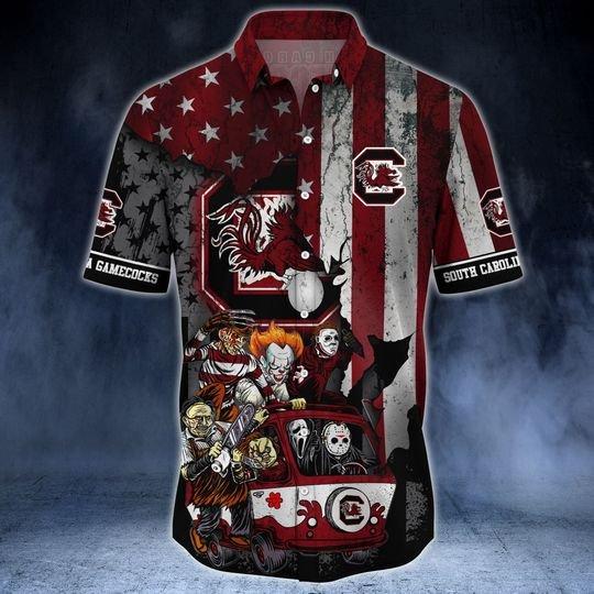 South Carolina Gamecocks Summer Hawaiian Shirt -BBS