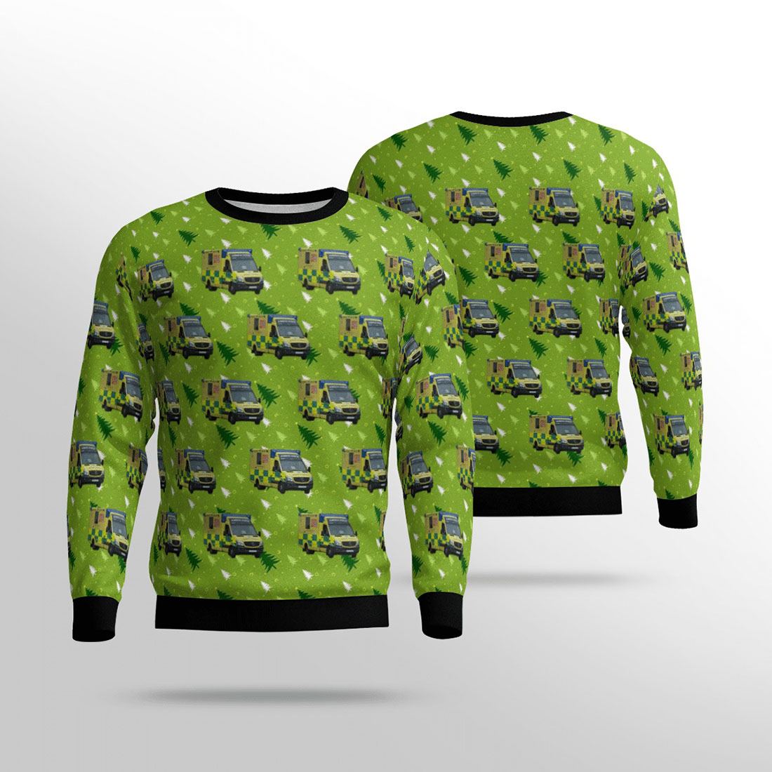 South western ambulance service nhs foundation trust (swasft) mercedes sprinter over print sweater