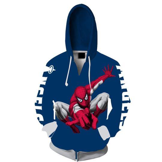 Spiderman Los angeles angels 3d all over print hoodie2