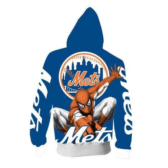 Spiderman New york mets 3d all over print hoodie - LIMITED EDITION