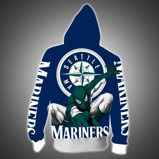 Spiderman Seattle mariners 3d all over print hoodie - LIMITED EDITION