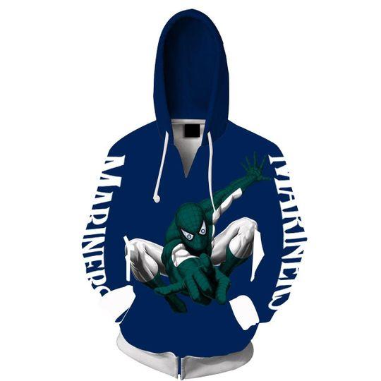 Spiderman Seattle mariners 3d all over print hoodie2