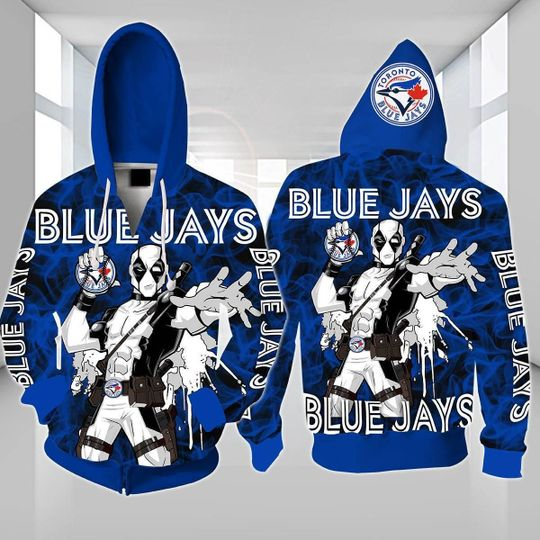 Spiderman Toronto blue jays 3d all over print hoodie - LIMITED EDITION