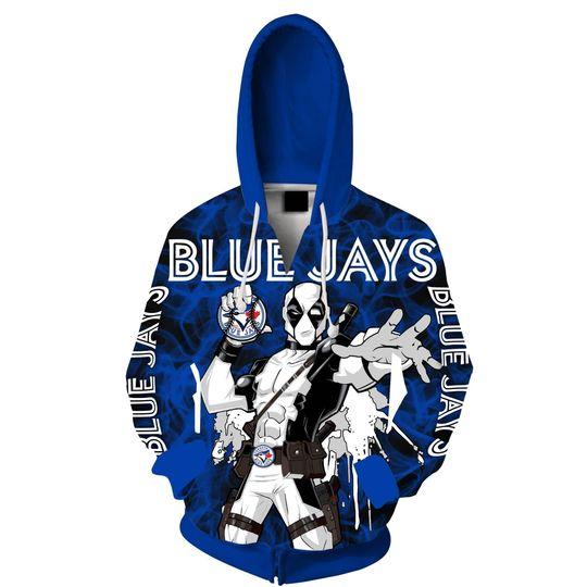 Spiderman Toronto blue jays 3d all over print hoodie1
