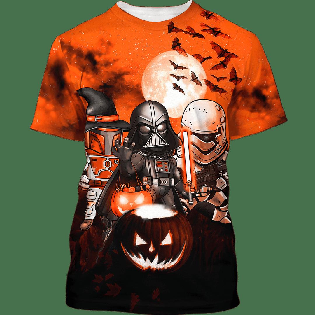 Star Wars Darth Vader Boba Fett Stormtrooper Halloween Night Hoodie And Shirt - LIMITED EDITION