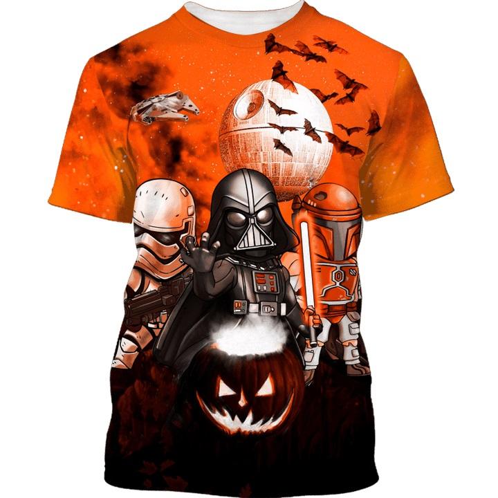 Star Wars Darth Vader Boba Fett Stormtrooper halloween night 3d t-shirt and hoodie