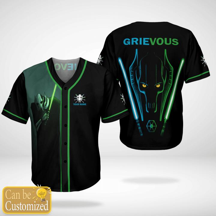 Star Wars Grievous Custom Name Baseball Jersey Shirt - LIMITED EDITION
