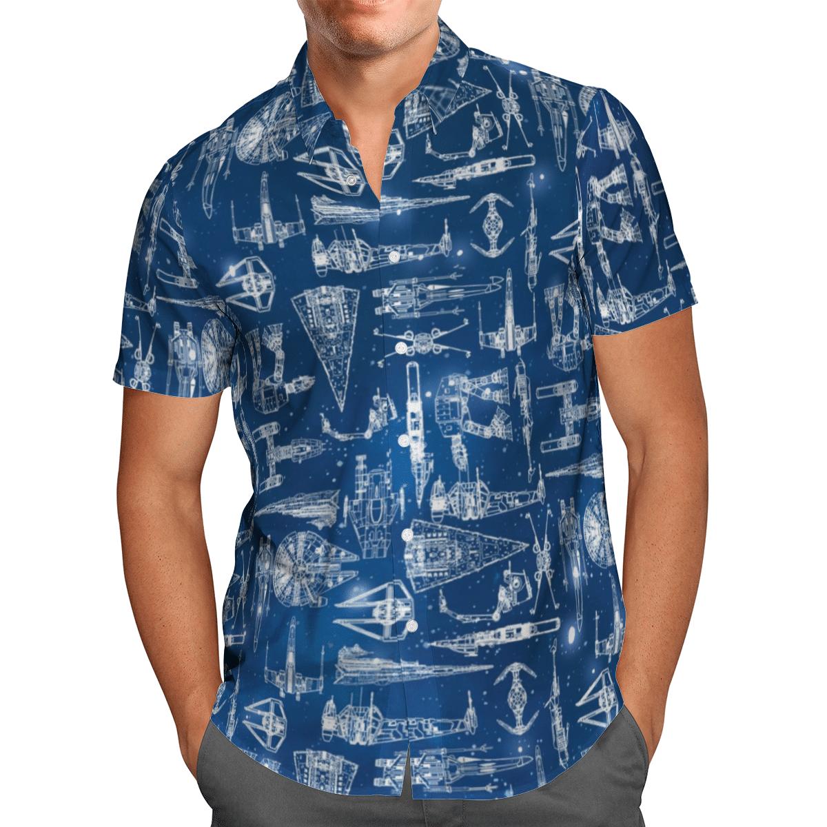 Starship Star Wars Hawaiian shirt and short - LIMITED EDITION