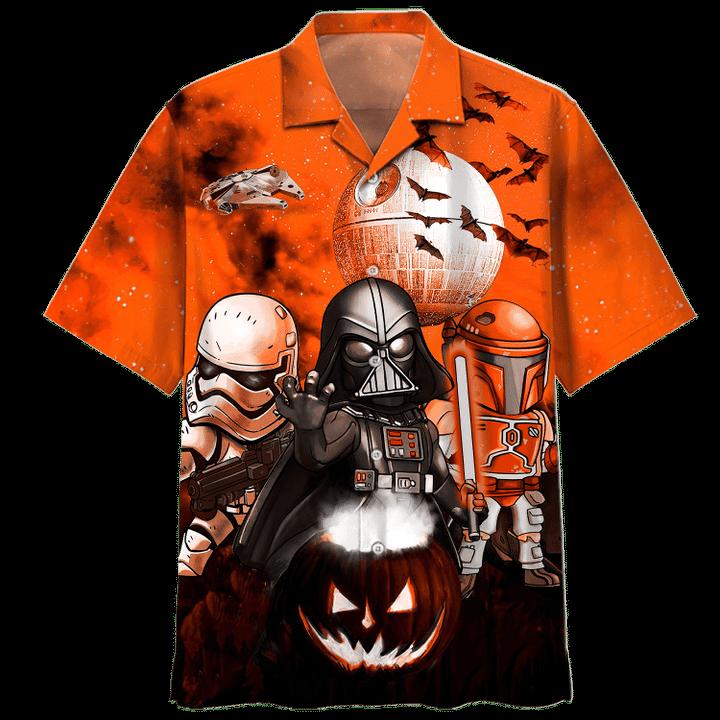 Star wars darth vader boba fett stormtrooper halloween night hawaiian shirt