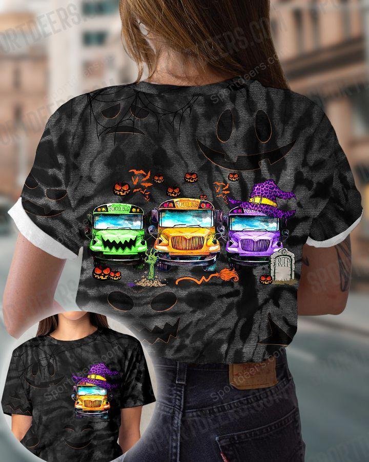Sugar skull school bus Halloween 3d shirt, sweatshirt - LIMITED EDITION