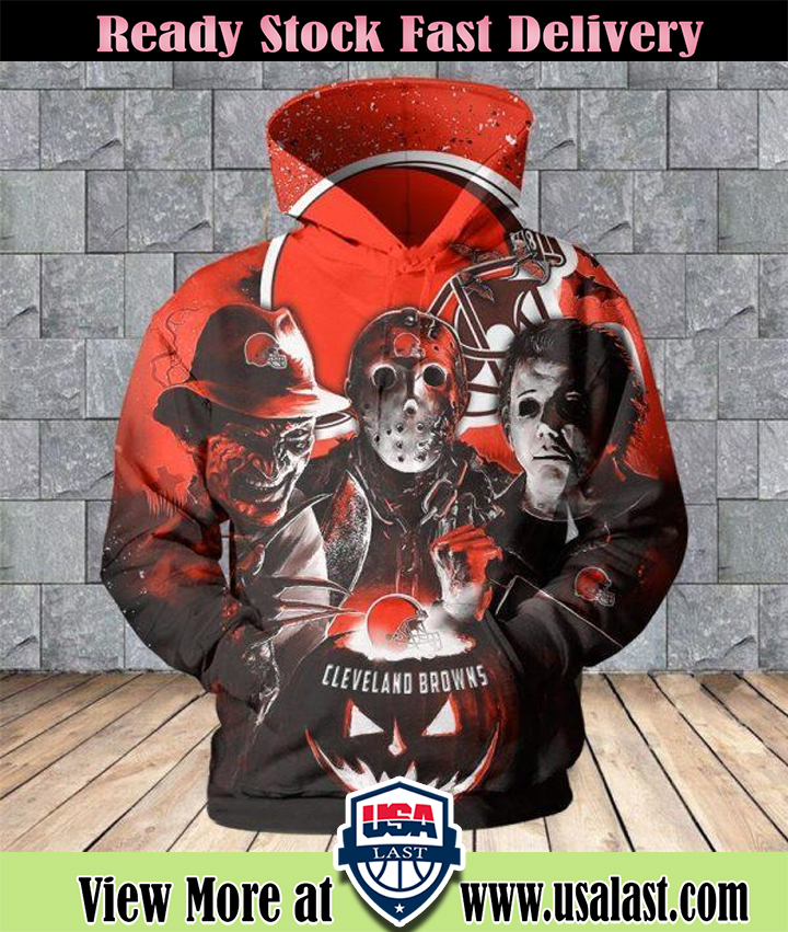 Cleveland Browns Halloween Horror Night 3D Pullover Hoodie