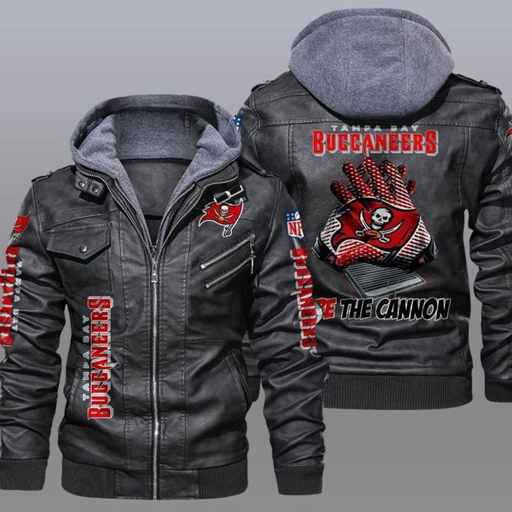 Tampa Bay Buccaneers Fire The Cannon Leather Jacket - LIMITED EDITION