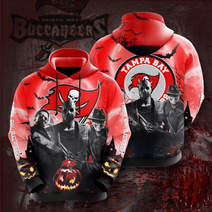 [Hot Trend] Tampa Bay Buccaneers Halloween Horror Night 3D Pullover Hoodie - Hothot 050921