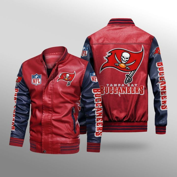 Tampa Bay Buccaneers Leather Bomber Jacket - LIMITED EDITION