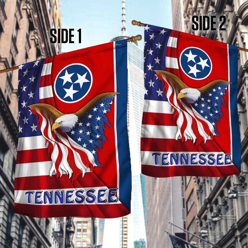 Tennessee Eagle American Flag