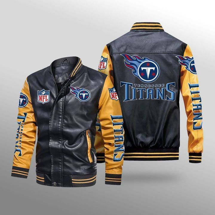 Tennessee Titans Leather Bomber Jacket - LIMITED EDITION