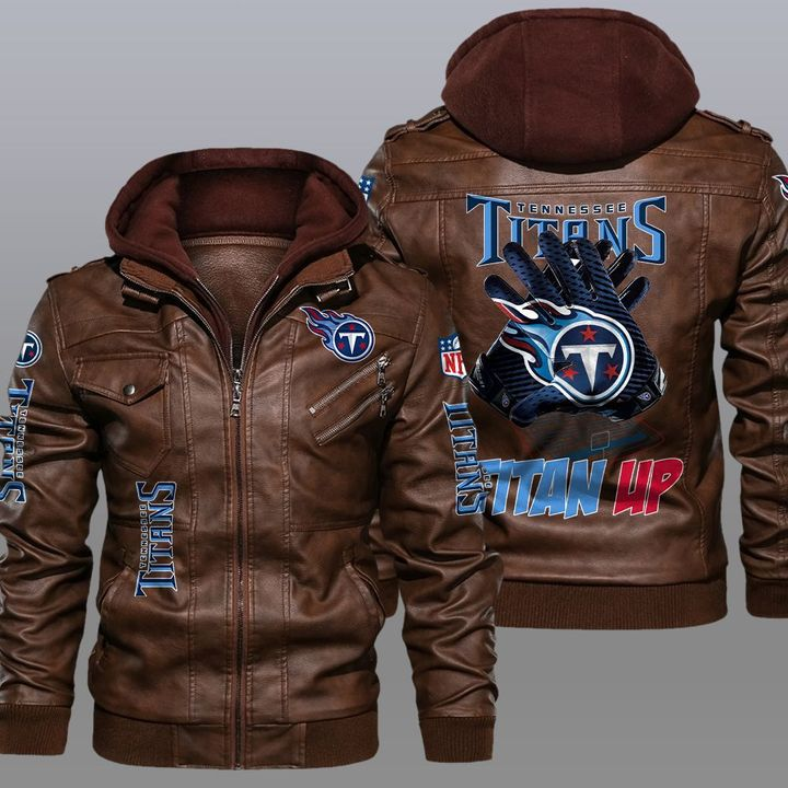 Tennessee Titans Titan Up Leather Jacket - LIMITED EDITION