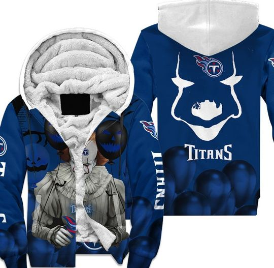 Tennessee titans pennywise the dancing clown it halloween 3d all over print hoodie4
