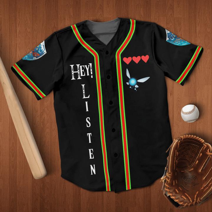 The Legend Of Zelda Listen Navi Baseball Jersey Shirt - LIMITED EDITION