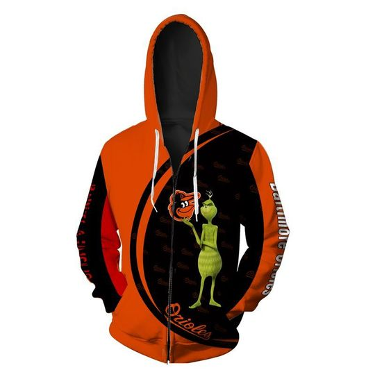 The grinch Baltimore orioles 3d all over print hoodie - LIMITED EDITION