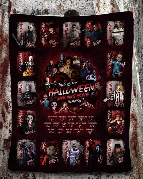 This is my halloween watching movie blanket