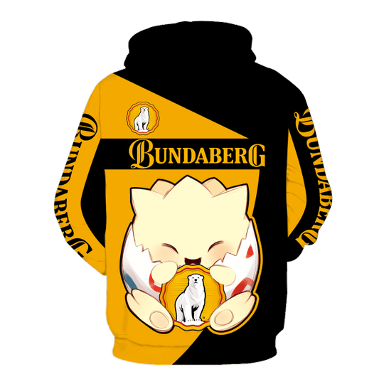 Togepi pokemon Bundaberg brewed 3d hoodie - LIMITED EDITION