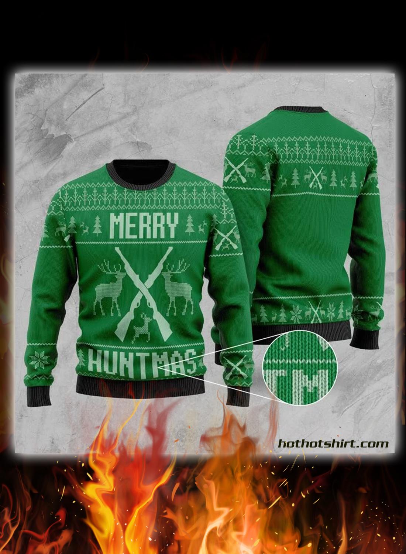 Merry huntmas 3d christmas sweater 1