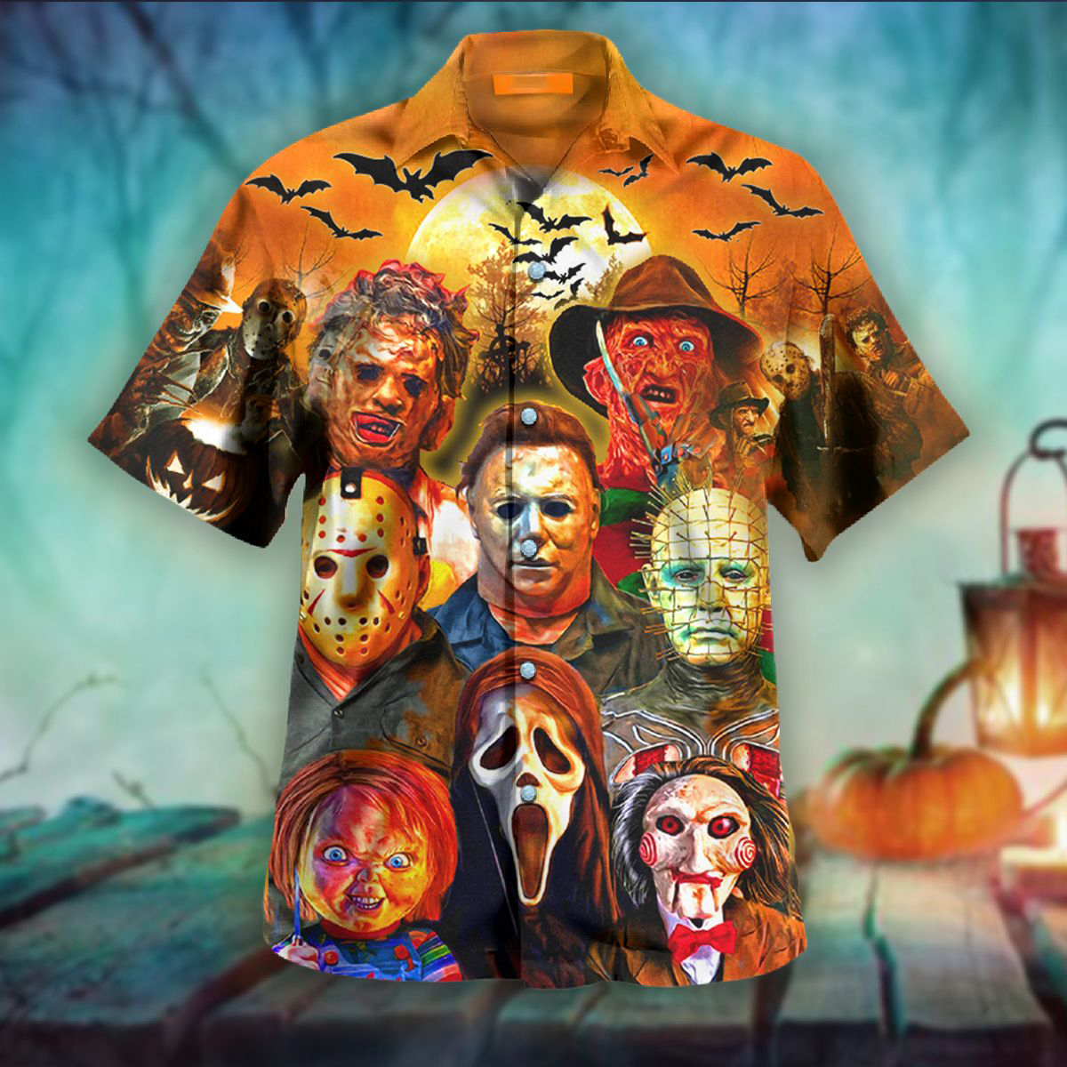 Trick or treats horror killers halloween hawaiian shirt - Picture 1
