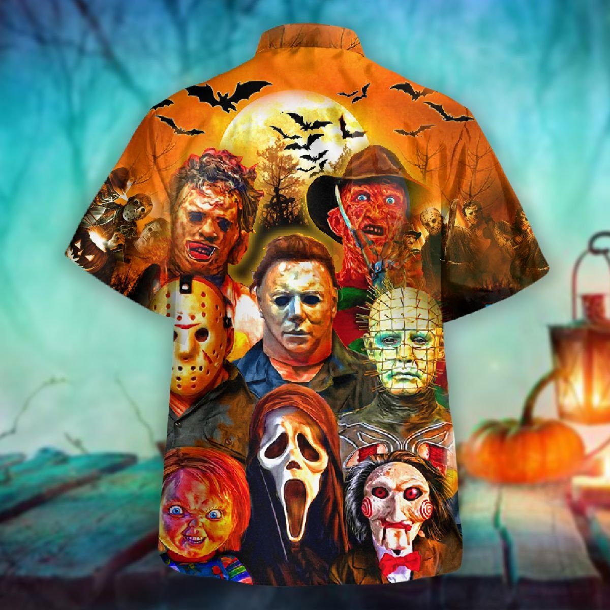 Trick or treats horror killers halloween hawaiian shirt - Picture 2