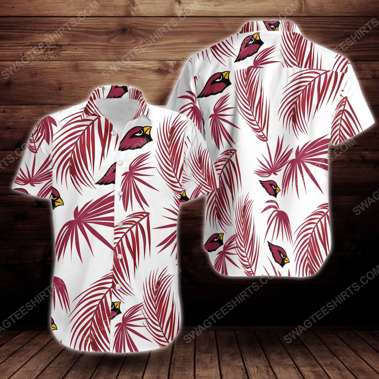 Tropical arizona cardinals short sleeve hawaiian shirt 1