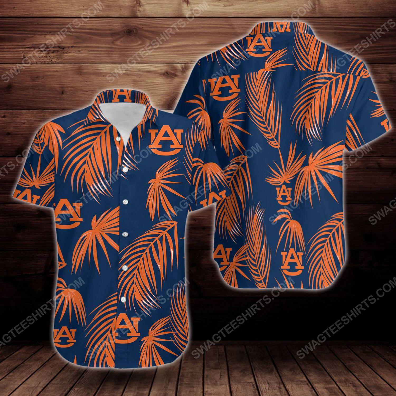Tropical auburn tigers short sleeve hawaiian shirt 1