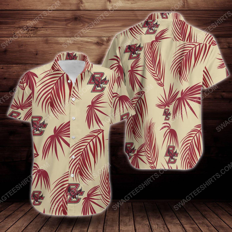 Tropical boston college eagles short sleeve hawaiian shirt 1