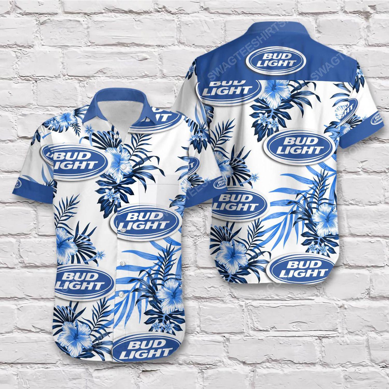 Tropical bud light beer short sleeve hawaiian shirt 1