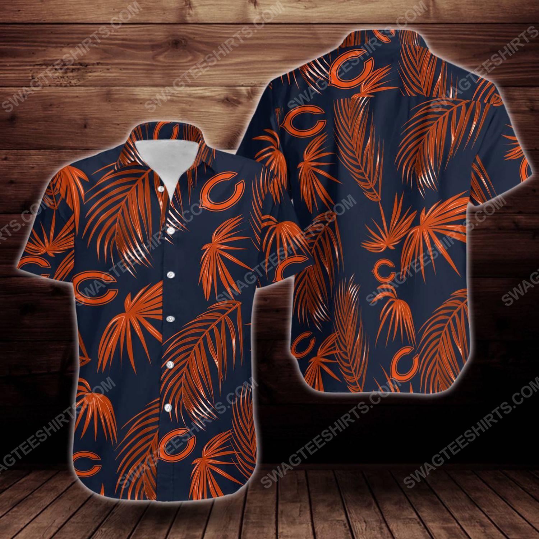 Tropical chicago bears short sleeve hawaiian shirt 1
