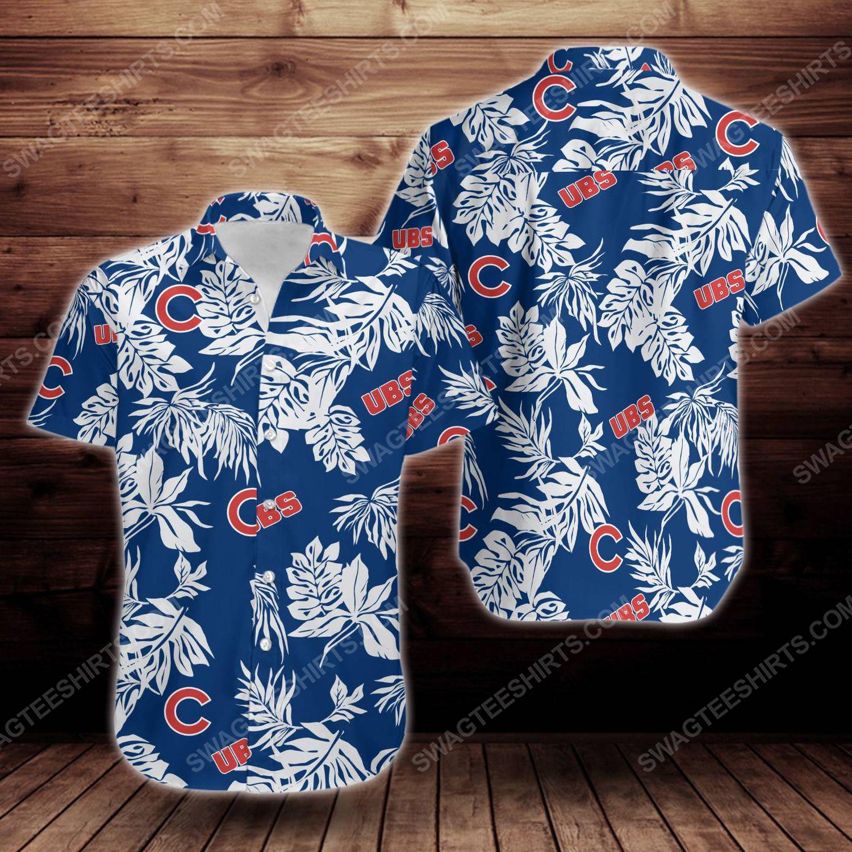 Tropical chicago cubs short sleeve hawaiian shirt 1
