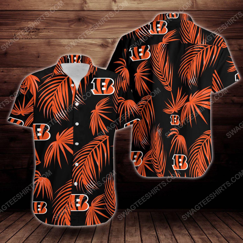 Tropical cincinnati bengals short sleeve hawaiian shirt 1