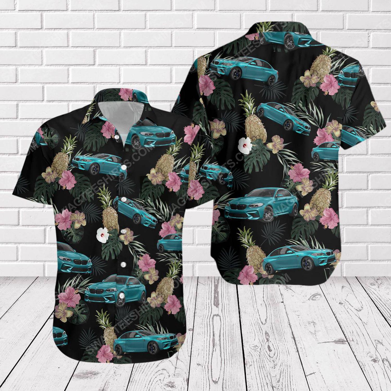 Tropical summer bmw car short sleeve hawaiian shirt 1