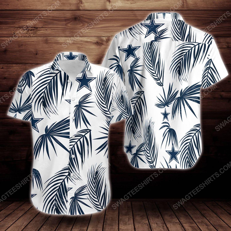 Tropical summer dallas cowboys short sleeve hawaiian shirt 1