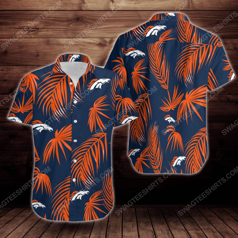 Tropical summer denver broncos short sleeve hawaiian shirt 1