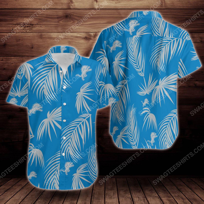 Tropical summer detroit lions short sleeve hawaiian shirt 1