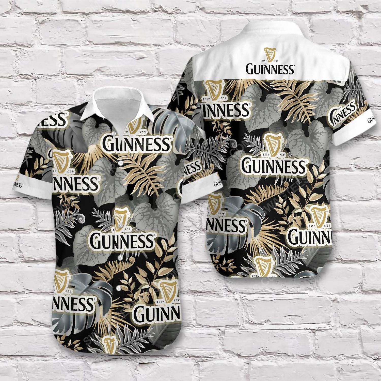 Tropical summer guinness beer short sleeve hawaiian shirt 1