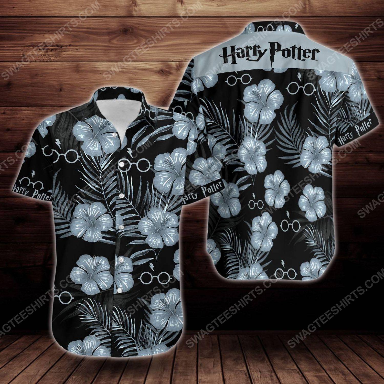 Tropical summer harry potter short sleeve hawaiian shirt 1