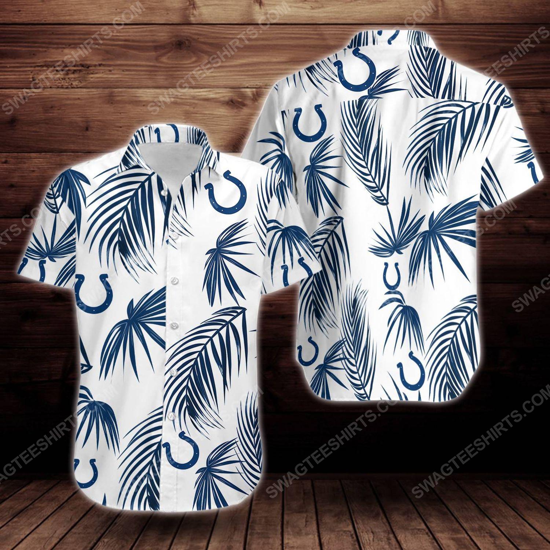 Tropical summer indianapolis colts short sleeve hawaiian shirt 1