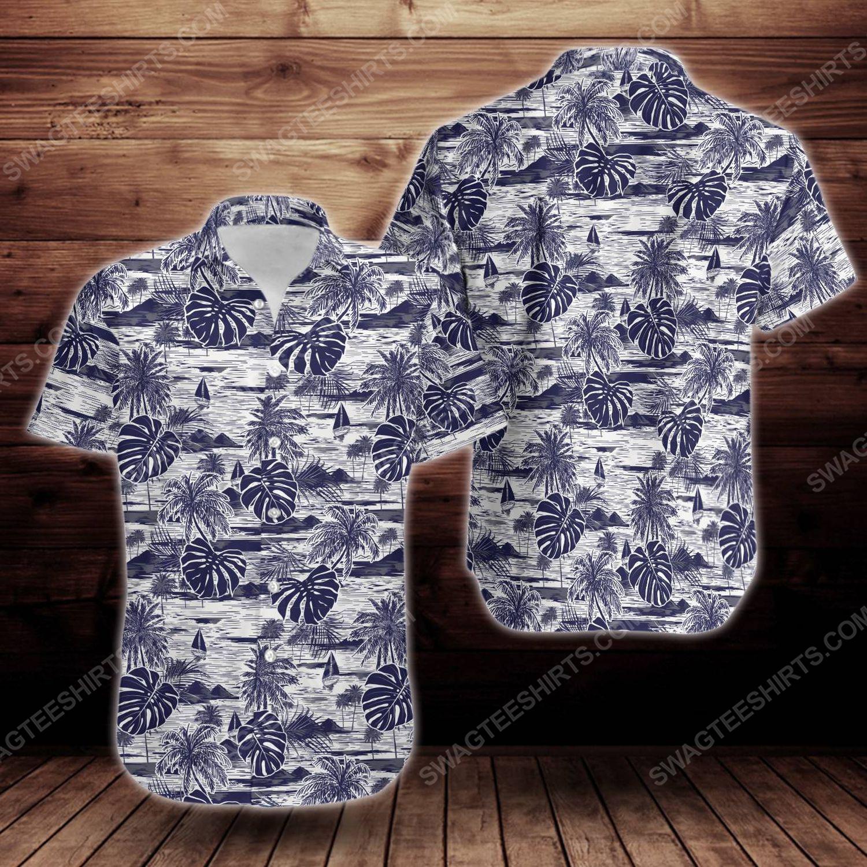 Tropical summer island short sleeve hawaiian shirt 1