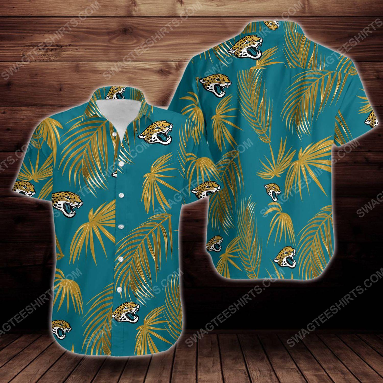 Tropical summer jacksonville jaguars short sleeve hawaiian shirt 1
